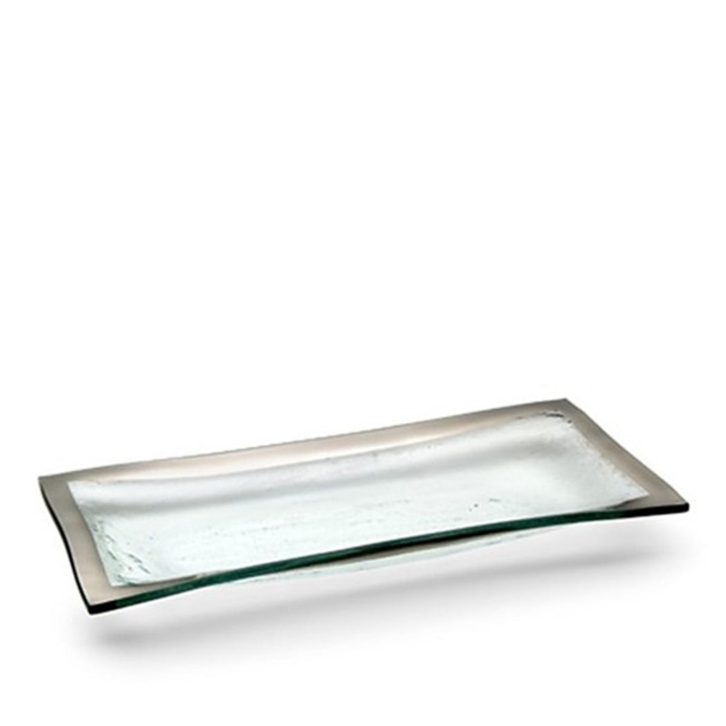 Roman Antique Appetizer Tray in Platinum
