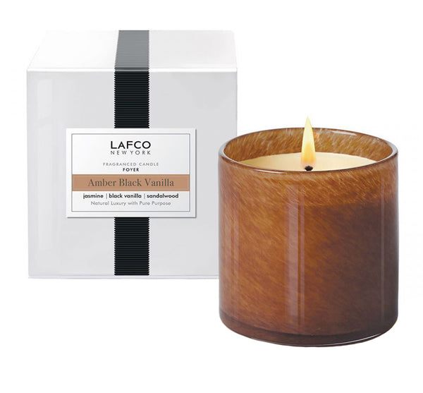 "Amber Black Vanilla ""Foyer"" Candle"