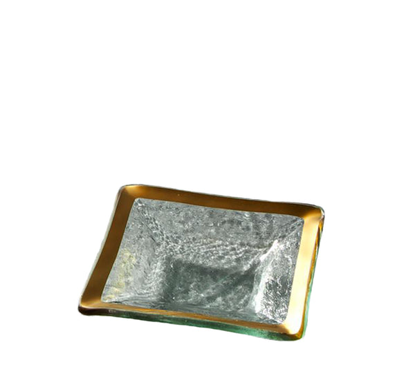 Small Square Dish In Gold