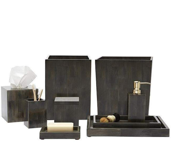 Arles Bath Collection In Dark Faux Horn