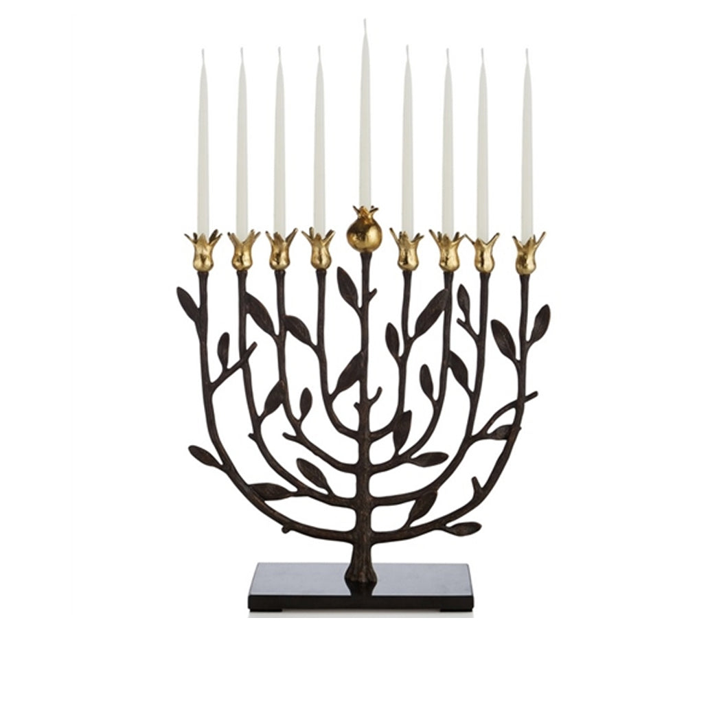 Menorah in Pomegranate Kosher