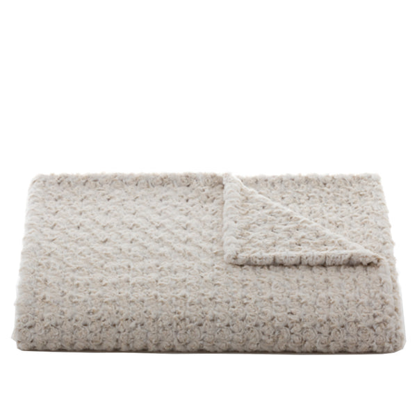 Rosebud Throw in Duo Tone Cream/Camel
