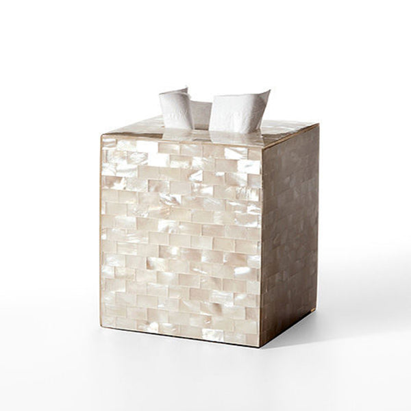 White Agate Tissue Box