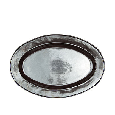 Large Oval Pewter Platter 21""
