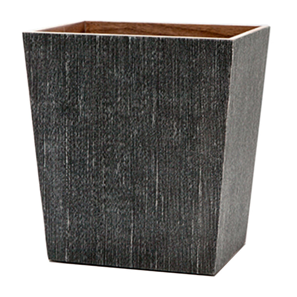 Bruges Waste Basket in Charcoal