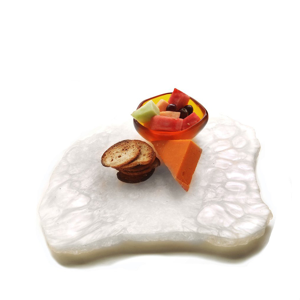 Jagged Edge Tray in Shell