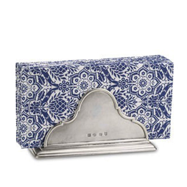 Napkin Holder With Napkins - Pewter