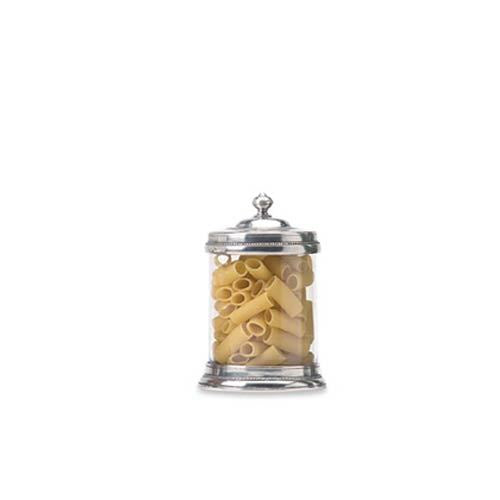 Pewter & Glass Medium Canister