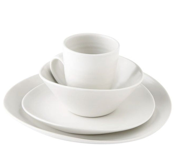 Barre Dinnerware Collection in Alabaster