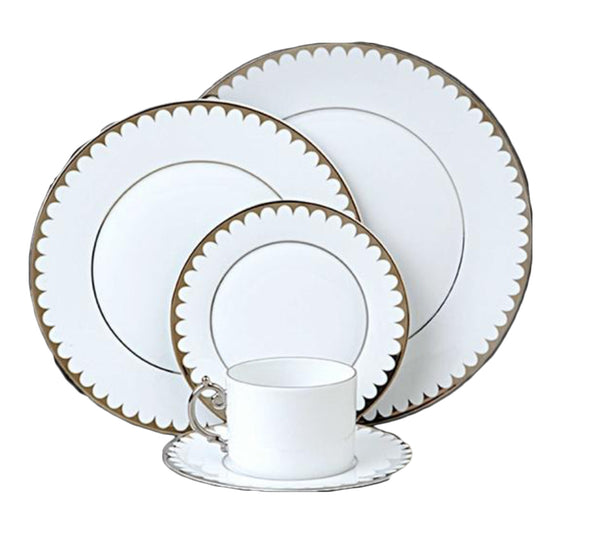 Aegean Dinnerware Collection in Filet Platinum