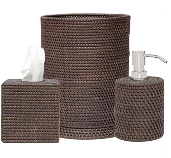Daton Bath Collection in Coffee Rattan