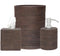 Dalton Bath Collection in Coffee Rattan