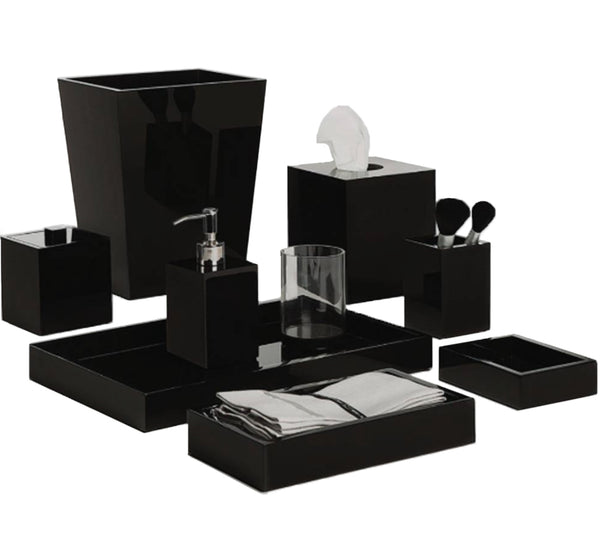 Lucite Bath Collection In Black Ice
