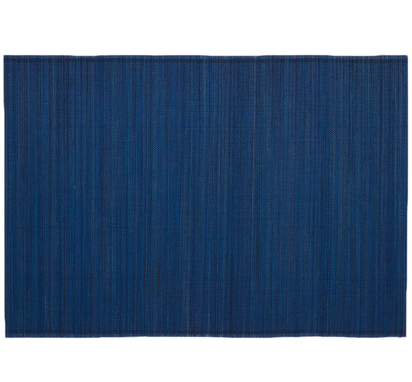 Bamboo Woven Placemat In Navy