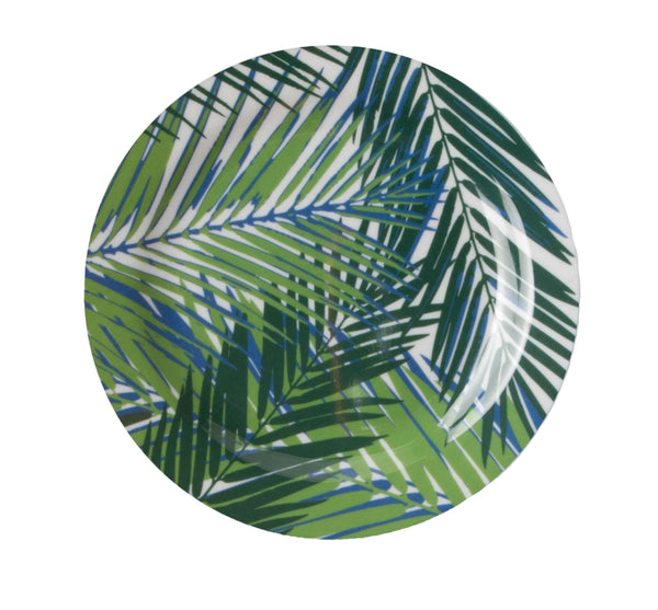 Palm Leaves Melamine Plates -Set of 4