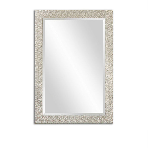 Silver Raised Dot Textured Mirror 29x41