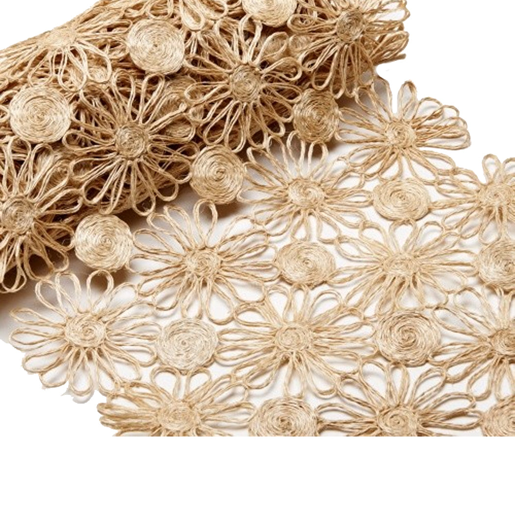 Daisy Braid Natural Table Runner