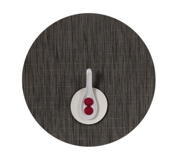 Bamboo Round Placemat in Grey Flannel