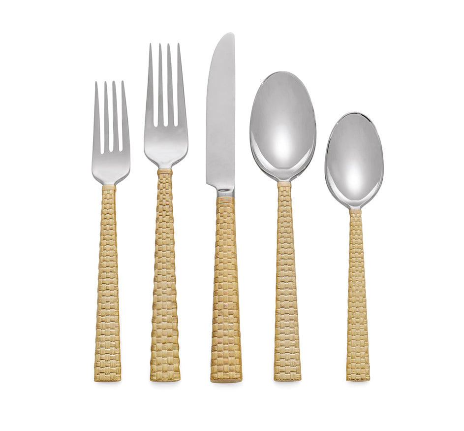 Palm 5 Piece Set in Gold