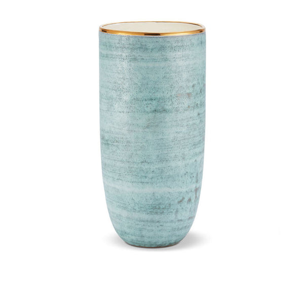 Calinda Tall Vase In Blue Grotto