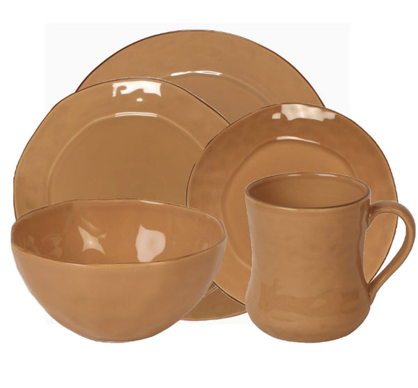 Cantaria Dinnerware Collection in Caramel
