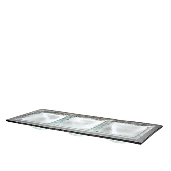 Three Section Tray in Platinum (Available in 4 styles)