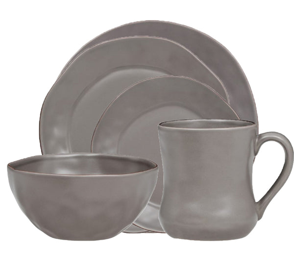 Cantaria Dinnerware Collection in Charcoal