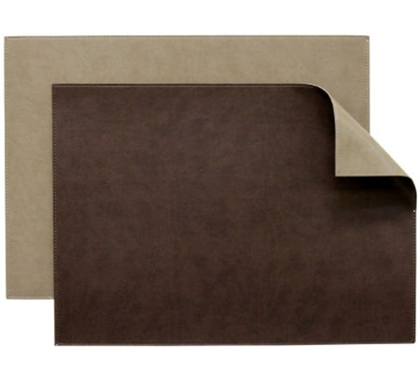 Reversible Gallery Placemat in Chocolate & Truffle (Set of 4)