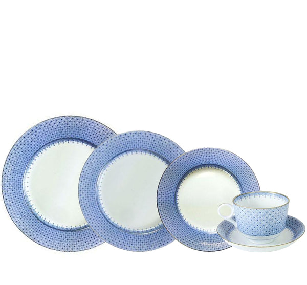 Lace Dinnerware Collection in Cornflower