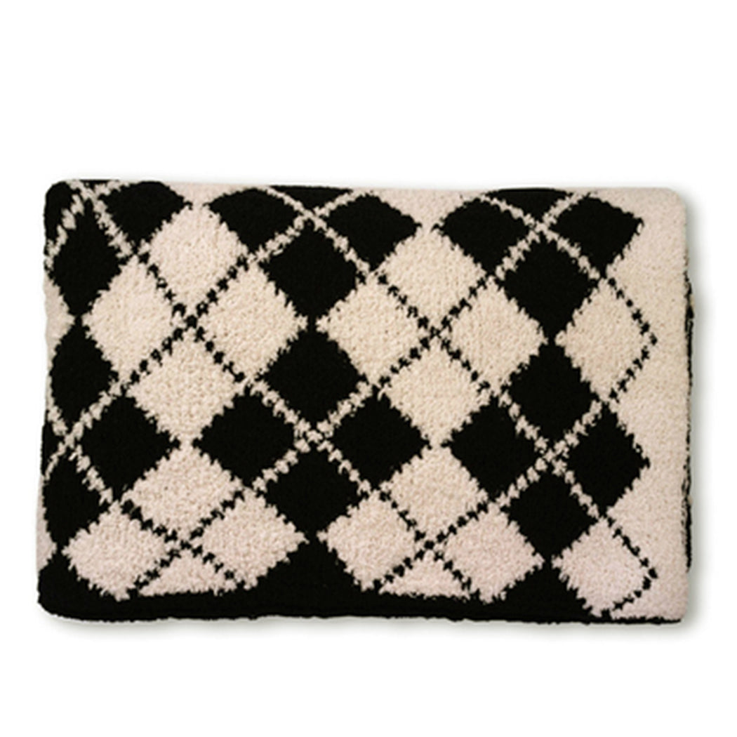 Kashwere Argyle Throw in Black