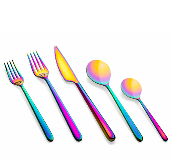 Linea 5-Piece Flatware In Rainbow