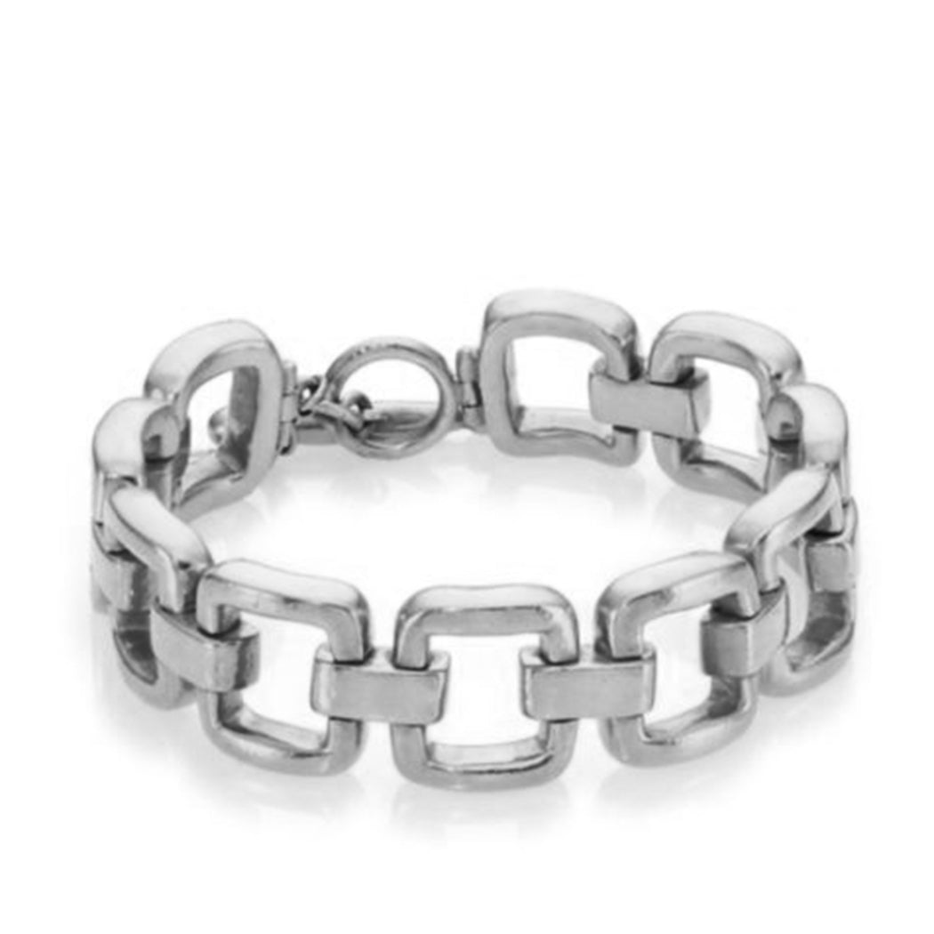Square Chain Bracelet in Silver