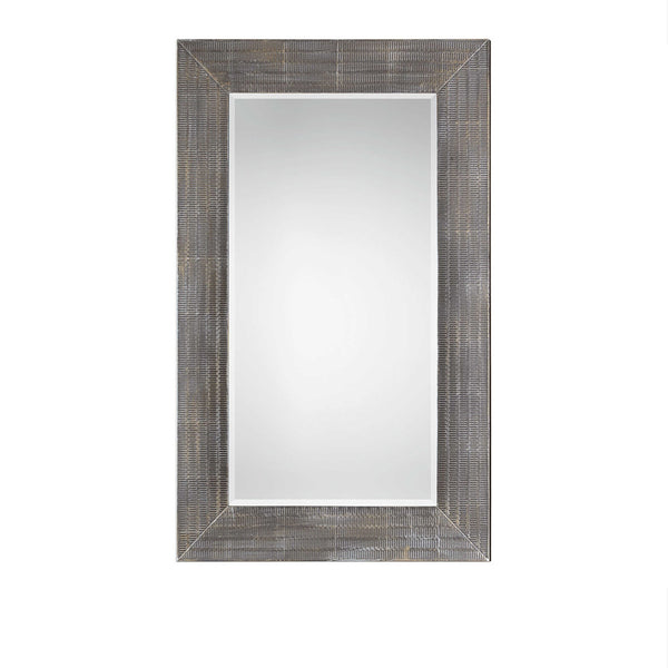 Modern Metal Textured Mirror 36x58