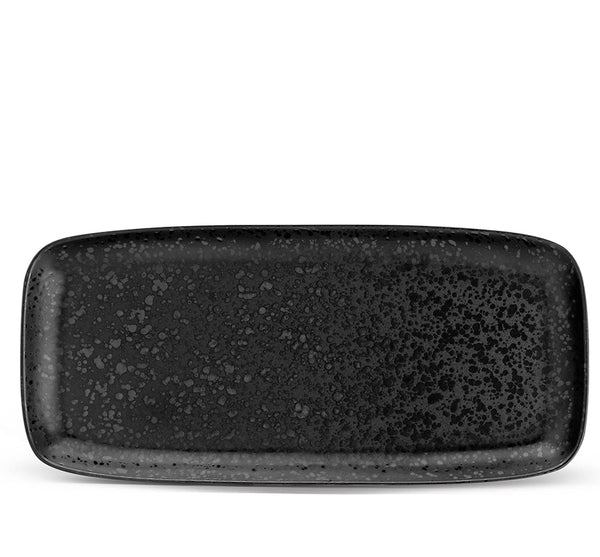 Medium Alchimie Rectangular Platter In Black