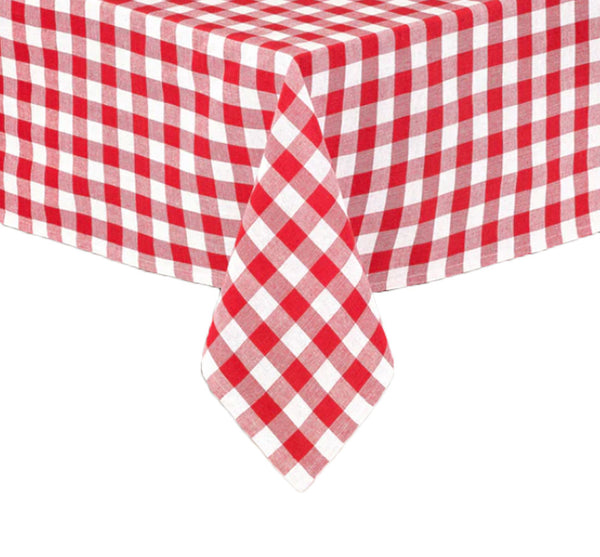 Gingham Tablecloth In Red