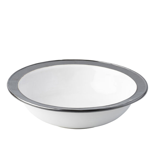 "Emerson White/Pewter 13"" Serving Bowl"