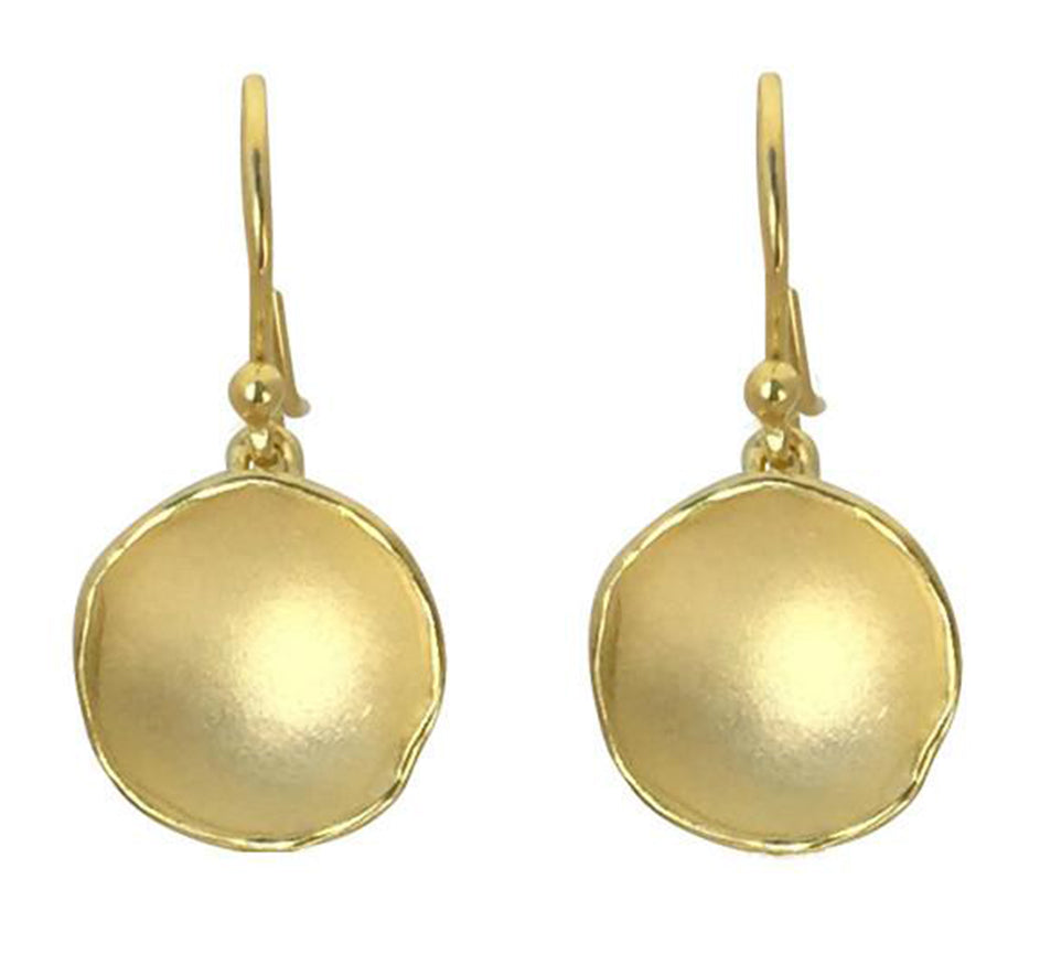 Oyster Dishy Earrings Single In 18KT Vermeil