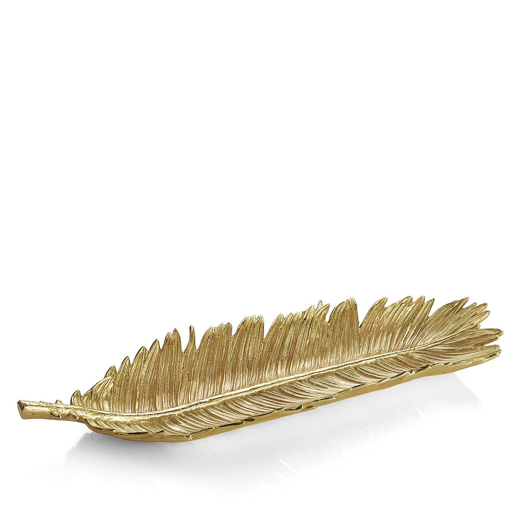 Sago Palm Bread/Decorative Plate in Gold