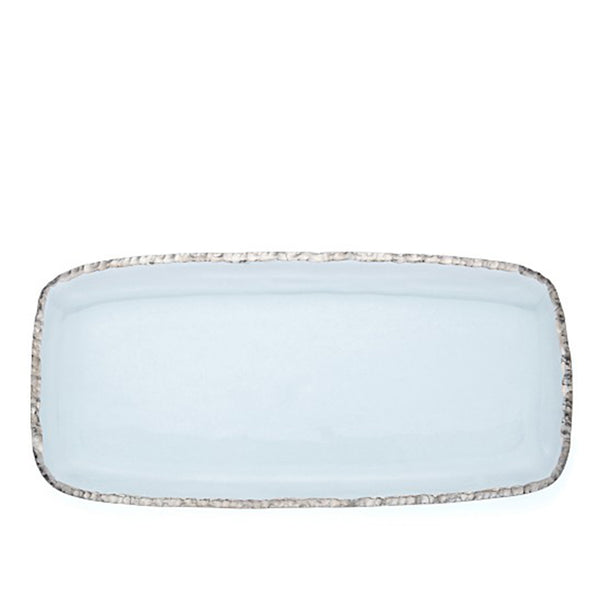 Edgey Rectangle Platter Platinum