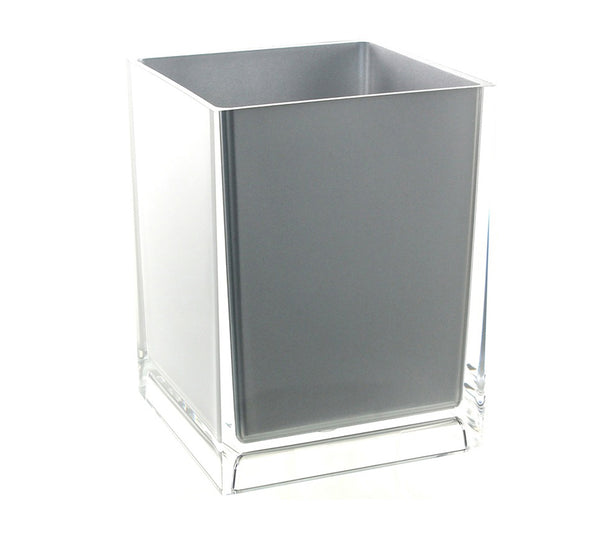Rainbow Wastebasket in Silver