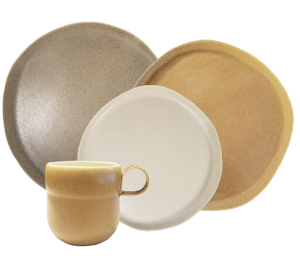 Riverstone Dinnerware Collection in Earthtones