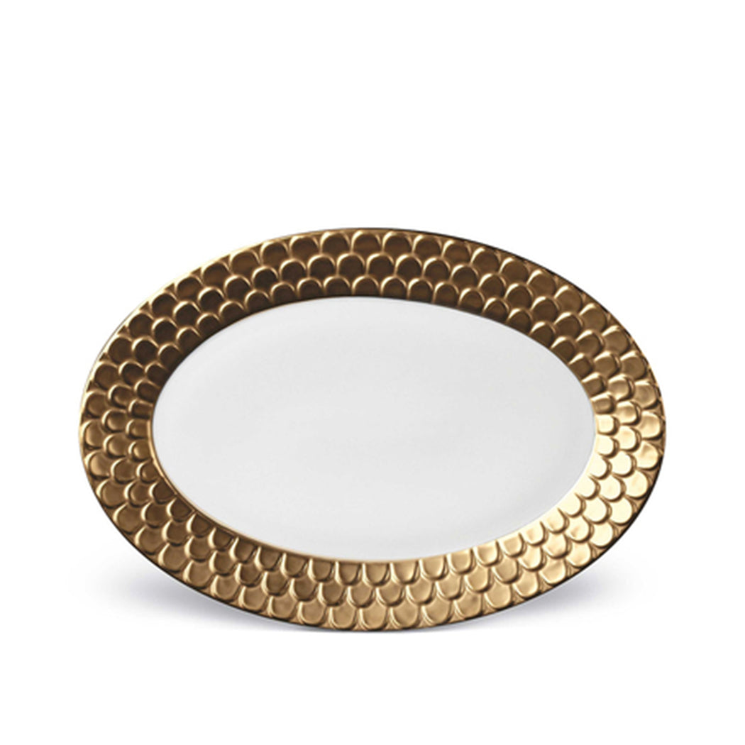 Aegean Oval Serving Platter in Gold
