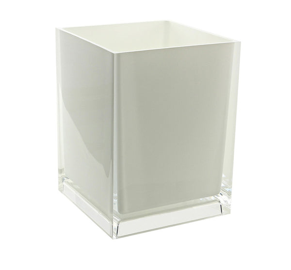Rainbow Wastebasket in White