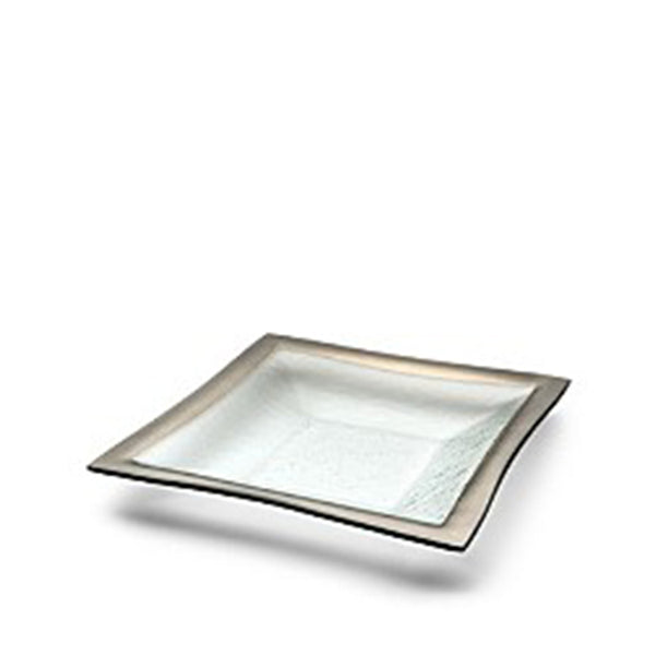 "Deep Square Bowl 11"" in Plat"