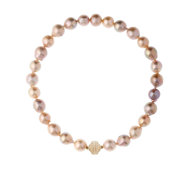 Multi-Pink Pearl Necklace