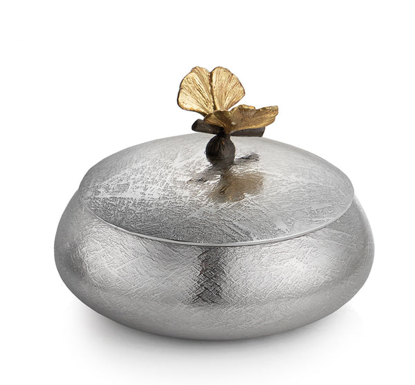 Butterfly Ginkgo Trinket Box