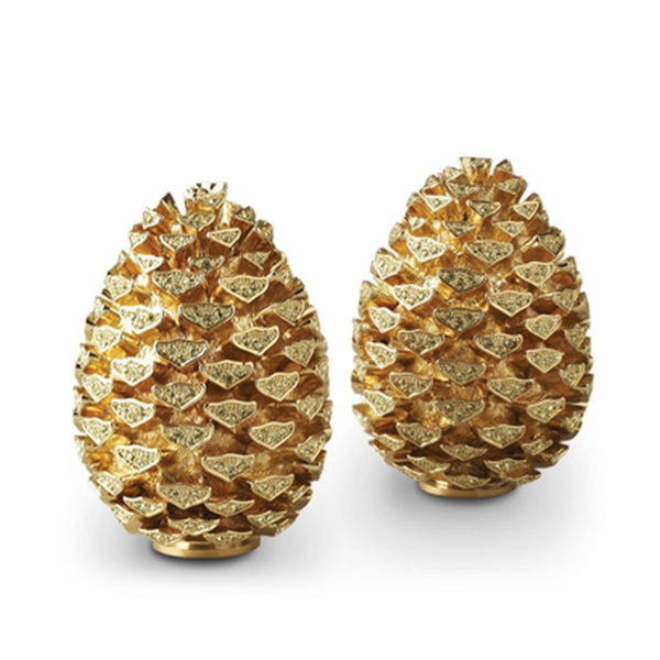 Pine Cone Salt & Pepper Shakers in Gold