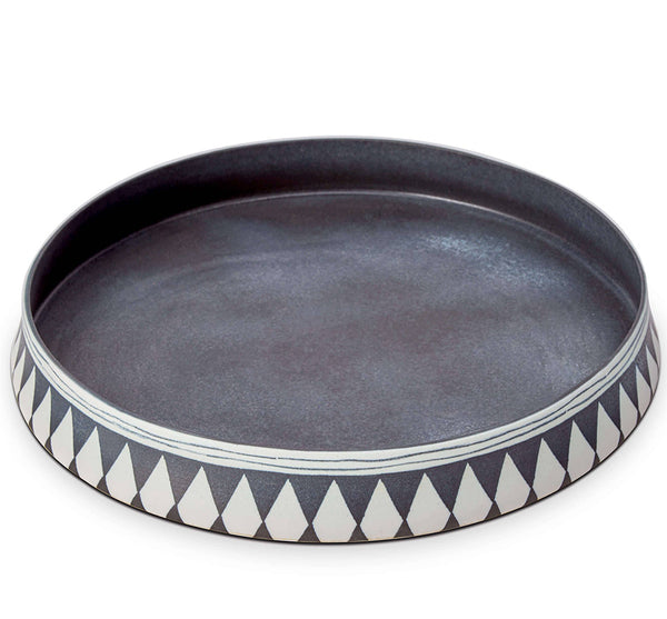 Large Tribal Diamond Round Platter