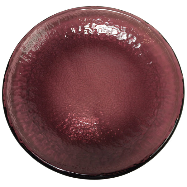 Recycled Glass Plum Dinner Plate