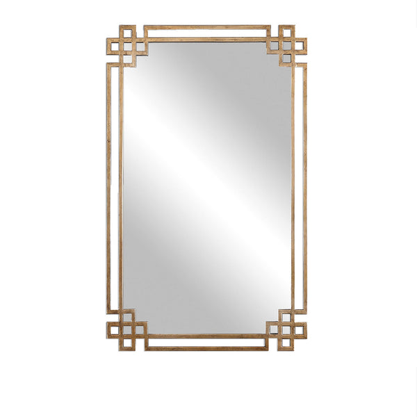 Oxidized Gold Framed Mirror 23x37